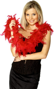 Ladies Red Feather Boa