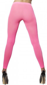 Ladies Neon Pink Footless Tights