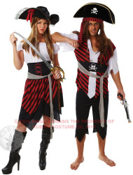 Couples Pirate Fancy Dress Costumes 2