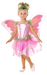 Girls Pink Fairy Princess Fancy Dress Costume