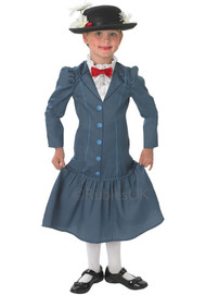 Girls Mary Poppins Fancy Dress Costume