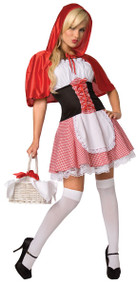 Ladies Sexy Red Riding Hood Fancy Dress Costume 2