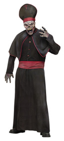 Mens Zombie High Priest Fancy Dress Costume