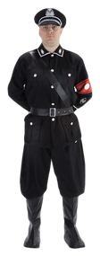 Mens German Gestapo Fancy Dress Costume
