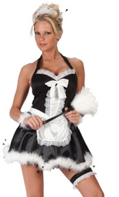 Ladies French Maid Fancy Dress Costume 4