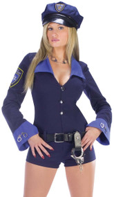Ladies Sexy Police Fancy Dress Costume