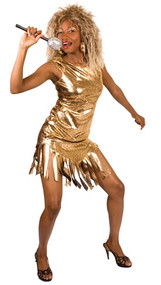 Ladies Tina Turner Fancy Dress Costume
