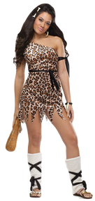 Ladies Sexy Cavewoman Fancy Dress Costume
