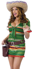 Ladies Sexy Mexican Shooter Fancy Dress Costume