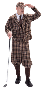 Mens 1930s Golfer Fancy Dress Costume