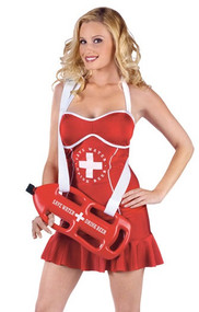 Ladies Sexy Lifeguard Fancy Dress Costume