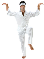 Mens Karate Fancy Dress Costume