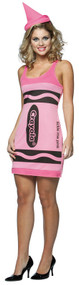 Ladies Crayola Crayon Fancy Dress Costume