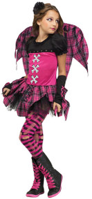 Girls Punky Fairy Fancy Dress Costume