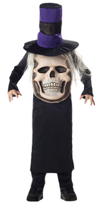 Boys Skull Mad Hat Fancy Dress Costume