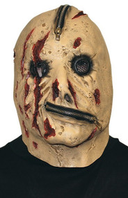 Mens Zombie Zipper Fancy Dress Mask