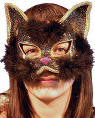 Ladies Black Masquerade Cat Mask
