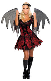 Ladies Demon Fairy Fancy Dress Costume