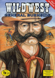 Mens Bushy Wild West Sideburns & Moustache