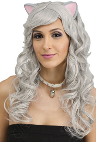 Ladies Grey Mouse Fancy Dress Wig