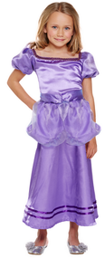 Girls Purple Princess Fancy Dress Costume 2