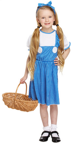 Girls Dorothy Fancy Dress Costume 3