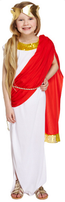 Girls Roman Goddess Fancy Dress Costume