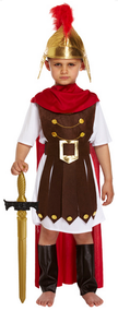 Boys Roman General Fancy Dress Costume