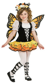 Girls Monarch Butterfly Fancy Dress Costume