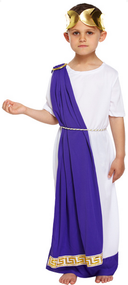 Boys Roman Emperor Fancy Dress Costume