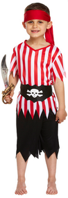 Boys Pirate Fancy Dress Costume 3