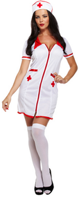 Ladies Sexy Nurse Fancy Dress Costume 2