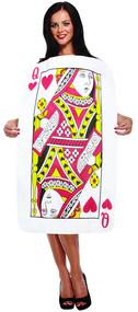 Ladies Playing Card Queen of Hearts Fancy Dress Costume