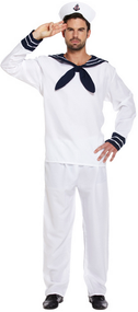 Mens Sailor Fancy Dress Costume