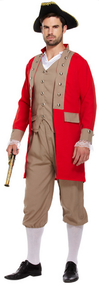 Mens Noble Pirate Fancy Dress Costume