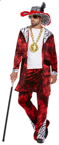 Mens Big Daddy Pimp Fancy Dress Costume