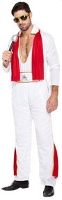 Mens 1950s Rock Star Fancy Dress Costume