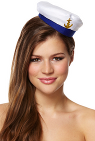 Ladies Sailor Mini Fancy Dress Hat