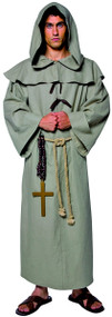 Mens Friar Tuck Monk Fancy Dress Costume
