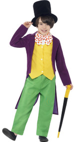 Boys Roald Dahl Wily Wonka Fancy Dress Costume