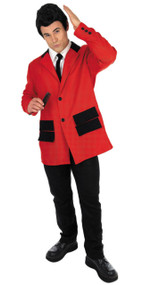 Mens 1950s Red Teddy Boy Fancy Dress Costume