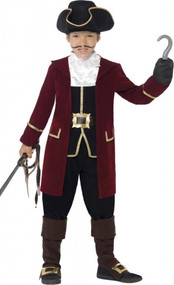 Boys Pirate Captain Fancy Dress Costume 2