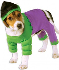 Dog Incredible Hulk Fancy Dress Costume