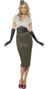Ladies WW2 Pin Up Fancy Dress Costume