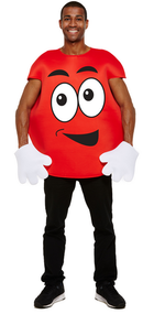 Adult Red Sweet Treat Fancy Dress Costume