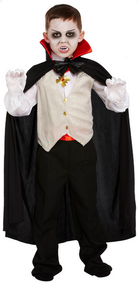 Boys Vampire Fancy Dress Costume