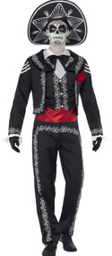 Mens Senor Skeleton Fancy Dress Costume