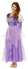 Ladies Long Hair Princess Fancy Dress Costume