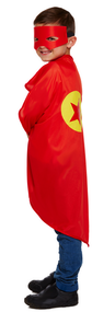 Child's Red Superhero Fancy Dress Costume