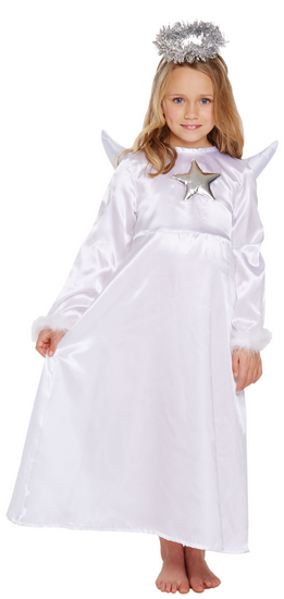 088e33fedd25 Girls Angel with Fur Fancy Dress Costume. Image 1 Click to view full size  image